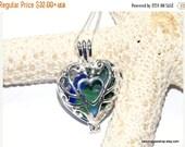 ON SALE GENUINE Sea Glass Heart Locket - Sterling Necklace - Sea Glass Necklace - Heart Necklace - Lake Erie Beach Glass