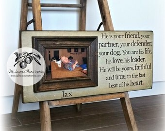 Dog Gift, Cat Gift, Pet Memorial, Personalized Pet Gift, Dog Picture Frame, Cat Picture Frame, Pet Portrait, Picture Frame, 8x20