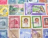 Little Venice 50 Vintage Venezuelan Postage Stamps Bolivarian Republic of Venezuela Latin America Puerto Ayacucho Mestizo Latina Hispanic