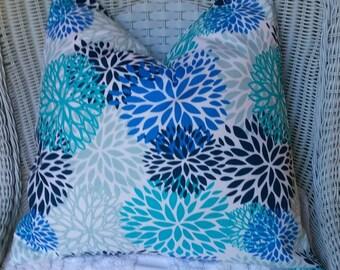 NEW  Outdoor Pillow Covers Decorator Pillow Aqua Pillow