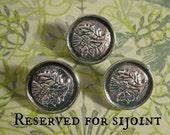 Three Pendleton Thistle Buttons