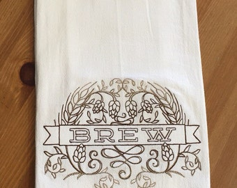 BREW - Embroidered Flour Sack Towel