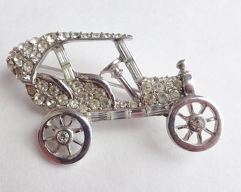 Rhinestone Model T Pin