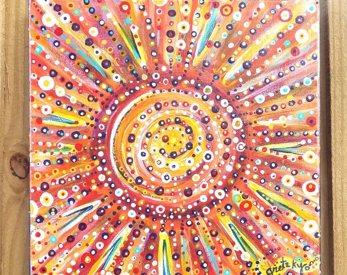 SUN SPOTS Original colorful acrylic abstract Painting