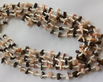 Five Strand Shell Necklace