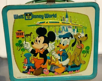 Vintage Walt Disney World Aladdin industries metal lunch box lunchbox RAD