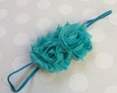 Turquoise Headband - Girls Turquoise Headband -Baby Girl Headband - Baby Headbands - Headbands for Girls - Teal Headband