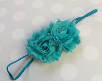 Turquoise Headband - Girls Turquoise Headband -Baby Girl Headband - Baby Headbands - Headbands for Girls - Teal Headband