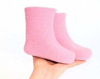 Kids Felt Boots - Pink Flamingo Booties - Custom made Kids Sizes