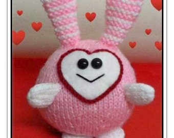 Love Bunny Ball great Valentine gift :  Pattern only IMMEDIATE DOWNLOAD