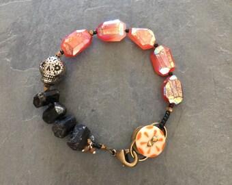DAY of the DEAD SKULL Halloween  bracelet