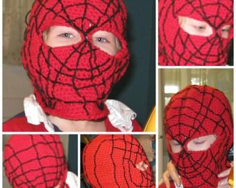 Crochet Pattern Spider-man mask, balaclava, hood, face mask