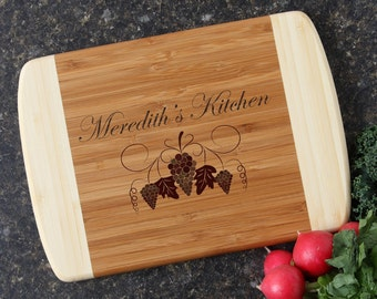 Personalized Cutting Board, Custom Engraved Cutting Board, Bamboo Cutting Boards, Personalized Kitchen Gift, Host or Hostess Gift-11 x 8 D40