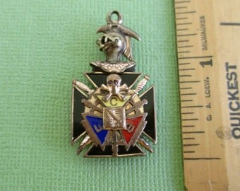 Knights of Pythias Fob - Vintage / Antique FCB Pendant