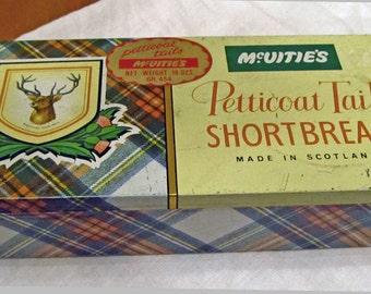 McVitie & Price vintage scottish shortbread tin Petticoat tails
