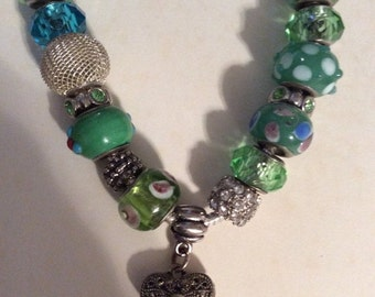 50% OFF SALE European Bead Necklace/Marcasite
