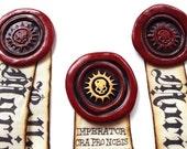 Purity Seal - HALO SKULL - Custom - Real Size, Brooch Pin Back, Mark of Faith