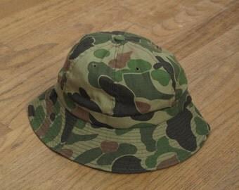 vintage camo canvas bell hat