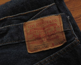 vintage selvage Levis 501 display jeans size 60