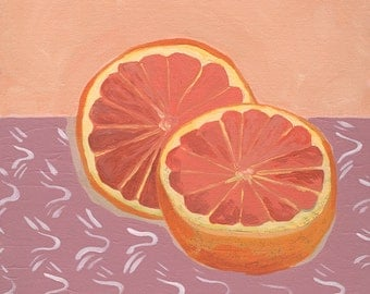 Grapefruit Art Print