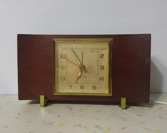 Vintage Mahogany General Electric Plug In Alarm Clock