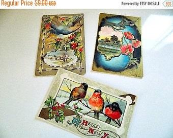 Antique VICTORIAN BIRD Postcards - cottage chic - Vintage Post Cards