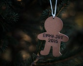 Personalized Gingerbread Man Ornament, Baby's First Christmas