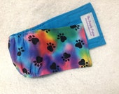 Male Dog Belly Band Diaper Britches Pet Doggie Wrap Pants Tie Dye Fabric  Custom Sizes To 30 Inches