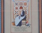 My Quilt – Told in a Garden – By Marilyn Leavitt –Imblum - Cross Stitch Chart TG39
