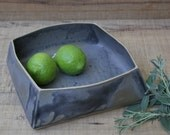 large grey serving dish,grey handmade serving dish, grey ceramic serving dish,wabi sabi