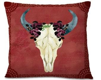 Decorative Cow Skull Etsy