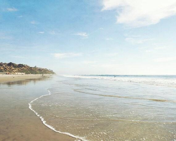Ocean Art, Beach Photography, California Coast, San Diego, Large Art, Wall Decor, Summer Beach Print, Coastal Wall Art, Seaside