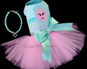 Dog Dress - Dog Tutu Dress - Mommy's Princess Piggy - XS, Small, Medium