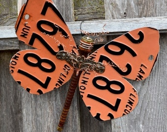 Repurposed Butterfly Garden Art - Upcycled Materials, Amazing Art For Your Garden Or Your Home - ReaganJuel