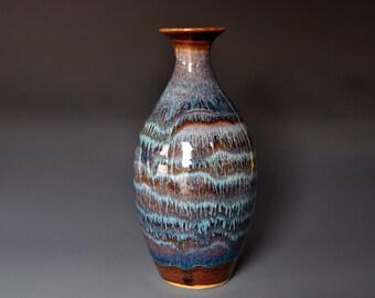 Ceramic Pottery Flower Vase Handmade Stoneware A