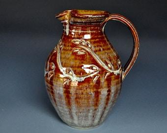 Ceramic Pottery Pitcher Handmade Stoneware Vase