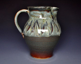 Green Mountain Pottery Pitcher Ceramic Stoneware Vermont Jug C