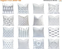 SALE Gray Pillow Covers - Decorative Pillow Cover - Pillow Cover - Gray and White - Nursery Decor - Couch Pillow Covers - Gray Cushion Cover