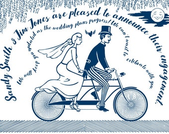 Perfect Letterpress Save the Date for bicycle lovers!