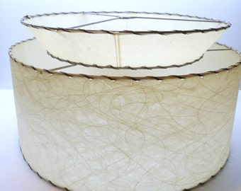 Vintage Two Tiered Fiberglass Lamp Shade