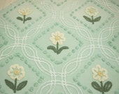 Pretty Soft Green Cabin Crafts Flowers - Large Cutter Piece with 10 Flowers and Some Wear and Flaws