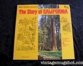 1966 Walt Disney The Story Of California Vintage Vinyl lp Disneyland Records ST 3041  Album With Book