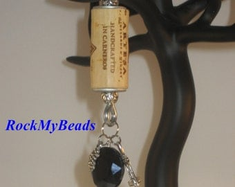 Wine Cork Key Chain-Wine Key Chain-Key Chain-Wine Gifts-Wine Lovers-Cork-Keychain-Mens Key Chain-Womens Key Chain-Gifts for Her-Gifts