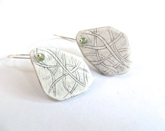 Tangled Pathways Earrings - OOAK hand carved clay