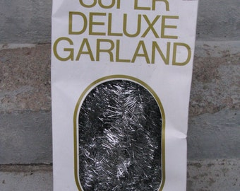 silver tinsel garland boxed super deluxe garland 25 feet 3 inches wide christmas garland deluxe garland