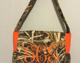 Embroidered Diaper Bag hunting camouflauge with free name personalization YOU CHOOSE COLOR & CaMo realtree, mossy or max4 fabric