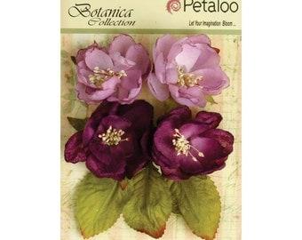 Petaloo Botanica Blooms LAVENDER PURPLE - 4 Pcs, Hair Accessories, Flower Crown, Mixed Media, Scrapbooking