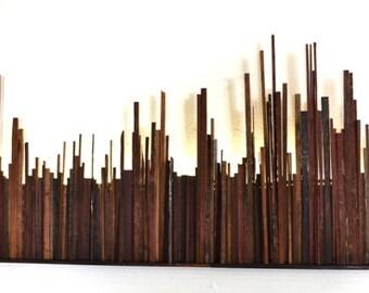 "BARREL ART - ""Vivamus 1""  - Limited Edition Lighted Wine Barrel Wall Art -100% recycled"