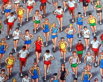 Marathon Runners Fabric Marathon Runner Material Timeless Treasures