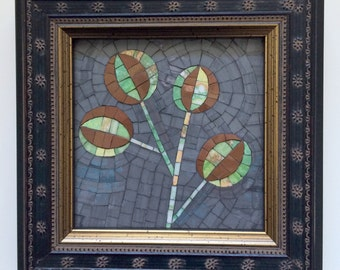 Abstract Thistle Mosaic